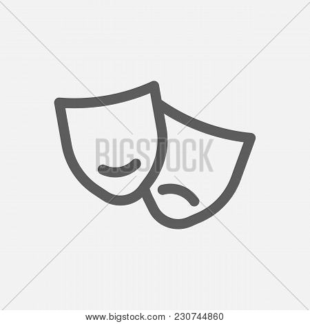 Core Values: Culture Icon Line Symbol. Isolated Vector Illustration On Company Values Theater Sign C