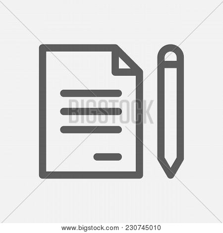 Core Values: Commitment Icon Line Symbol. Isolated Vector Illustration On Company Values Agreement S