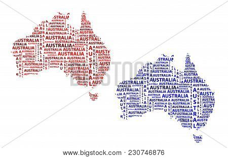 Australia Word Map.Sketch Australia Vector Photo Free Trial Bigstock