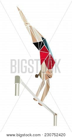 Artistic Gymnastics Female Gymnast In Uneven Bars