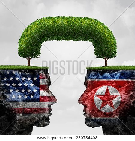 American And North Korea Agreement And Diplomacy Between Pyongyang And Washington As An Asian Crisis