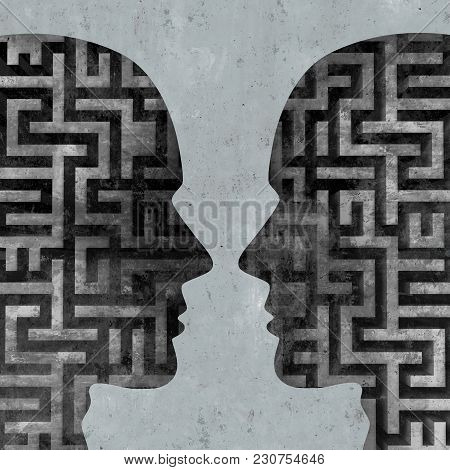 Psychology Of Communication And  Marriage Counselling Concept As An Abstract Couple Relationship The