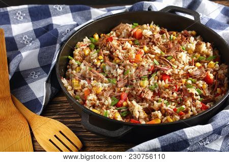 Shredded Beef And Rice With Vegetable
