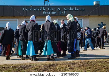 Amish Women At Fire Station Mud Sale