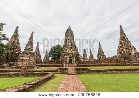 Wat Chaiwatthanaram Is A Buddhist Temple In The City Of Ayutthaya Historical Park, Thailand