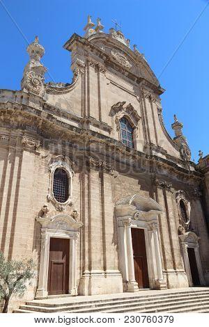 Monopoli Cathedral (basilica Of The Madonna Della Madia) In Italy.