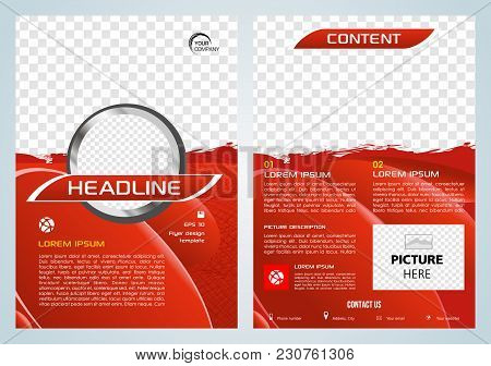 Vector Flyer, Corporate Business, Annual Report, Brochure Design And Cover Presentation With Red Spl