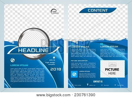 Vector Flyer, Corporate Business, Annual Report, Brochure Design And Cover Presentation With Blue Sp