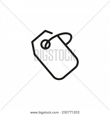 Line Icon Of Price Tag. Label, Coupon, Bookmark. Sale Concept. Can Be Used For Topics Like Business,