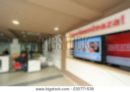 Abstract blurred showroom expo business background