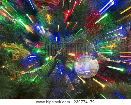Christmas Abstract Background. Blur Background. New Year Background