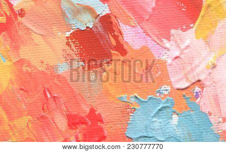 Abstract acrylic and watercolor painting. Canvas texture background.