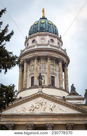 German Church In Gendarmenmarkt And Christmas Market, Berlin City, Germany