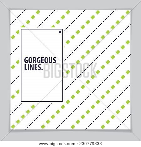 Future Geometric Design Template. Abstract Striped Textured Geometric Vector Pattern. Layout For Cov