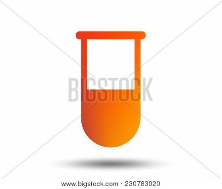 Medical Test Tube Sign Icon. Laboratory Equipment Symbol. Blurred Gradient Design Element. Vivid Gra
