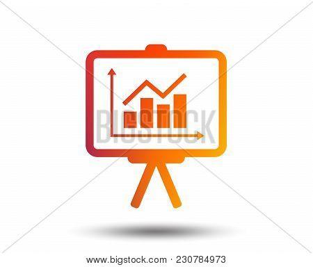 Presentation Billboard Sign Icon. Scheme And Diagram Symbol. Blurred Gradient Design Element. Vivid