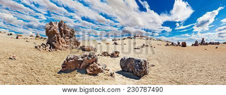 Volcanic Mountain Scenery, Teide National Park, Canary Islands, Spain.hiking In The Mountains And De