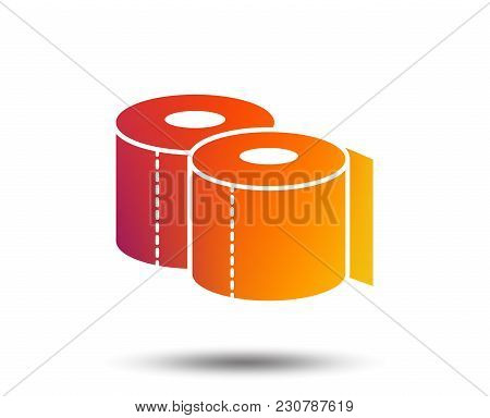 Toilet Papers Sign Icon. Wc Roll Symbol. Blurred Gradient Design Element. Vivid Graphic Flat Icon. V