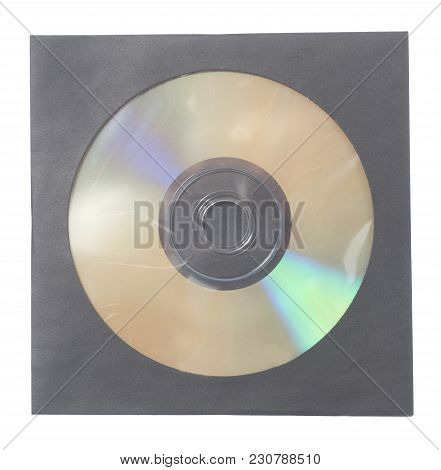 Blank Dvd Cd Case And Disc Isolated
