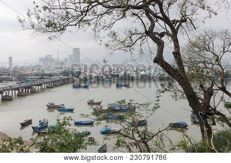 Views Of Nha Trang Coastal City And Capital Of Khanh Hoa Province And Of The River Cai, Vietnam.