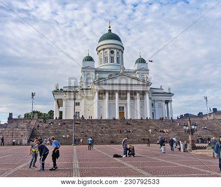 Helsinki, Finland - August 20, 2017: Helsinki Cathedral, Finnish
