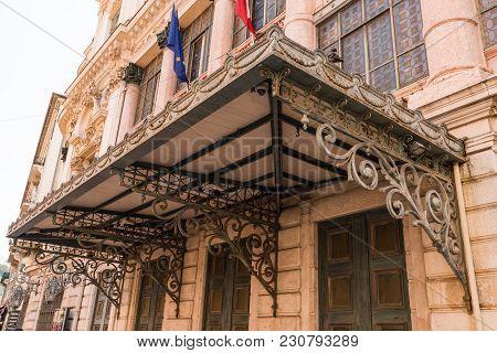 Nice, France - September 2017: Vintage Domed Opera House In Nice, France.