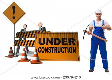 Concept of under construction for your webpage
