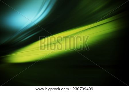 Radial Colored Curved Lines And Light Spots. Abstract Background. Element Of Design.