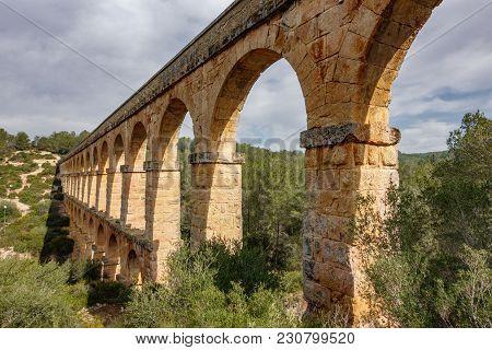 The Ferreres Aqueduct Also Called As Devil's Bridge