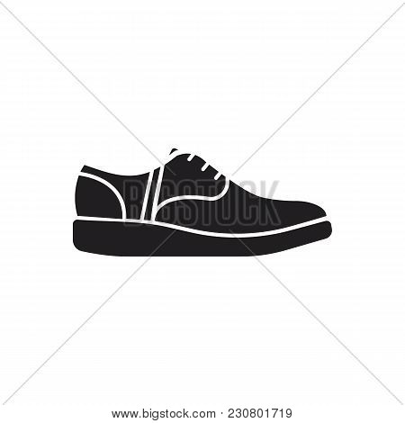 Sneaker Icon. Silhouette Illustration Of Sneaker Vector Icon For Web And Advertising