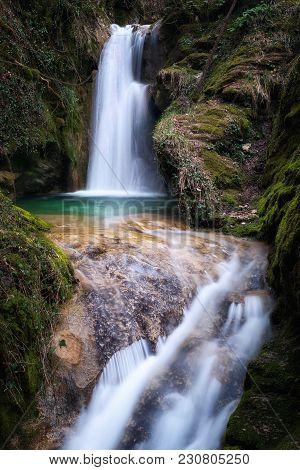 Pozza Del Diavolo Waterfall. Long Exposure.