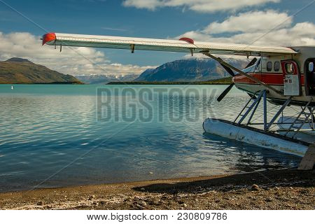 Hydroplane Landed On Naknek Lake In Katmai Np In Alaska, The Brooks Falls Area, The Best Bear Watchi