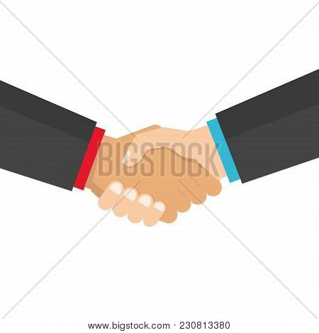 Handshake Business Vector Illustration, Symbol Of Success Deal, Agreement, Good Deal, Happy Partners