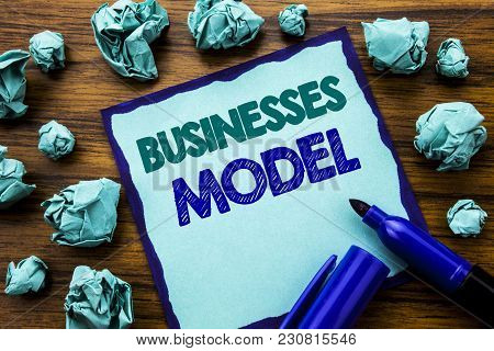 Writing Text Showing Businesses Model. Business Concept For Project For Business Written On Sticky N