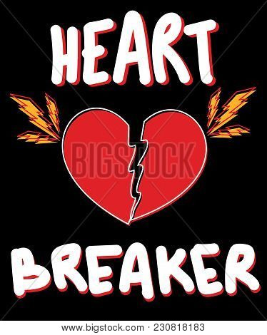 Typography Slogan With Heart Vector For T Shirt Printing And Embroidery, Graphic Tee And Printed Tee