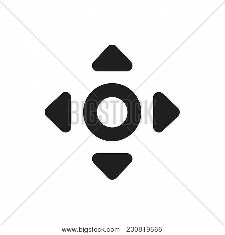 Virtual Reality Remote Control Black Silhouette Icon. Remote Control Vector Illustration On White Ba