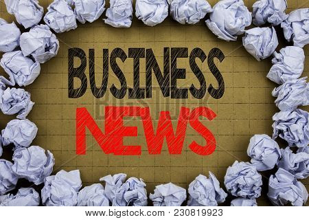 Business News. Business Concept For Modern Online News Written On Vintage Background With Space On O