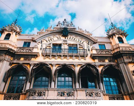 Port Authority Building Barcelona, Spain. At One End Of The La Rambla, The Building Was Built In 190