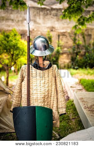 An Old English Armour Outdoor During A Medieval Representaition