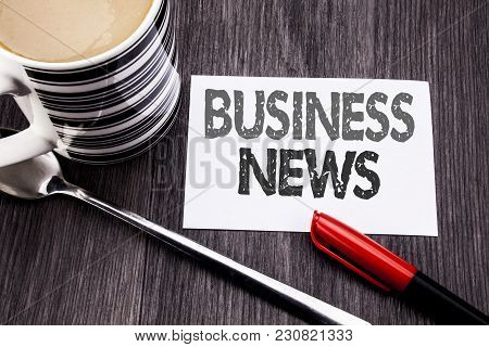 Conceptual Hand Writing Text Caption Showing Business News. Business Concept For Modern Online News