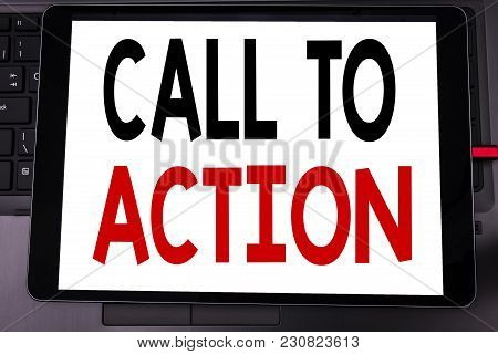 Conceptual Hand Writing Text Caption Inspiration Showing Call To Action. Business Concept For Proact