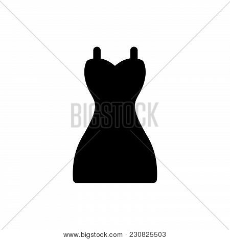 Dress Icon Isolated On White Background. Dress Icon Modern Symbol For Graphic And Web Design. Dress