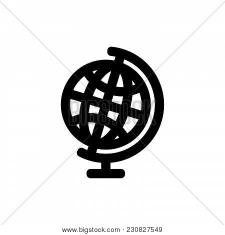 School Globe Icon Isolated On White Background. School Globe Icon Modern Symbol For Graphic And Web