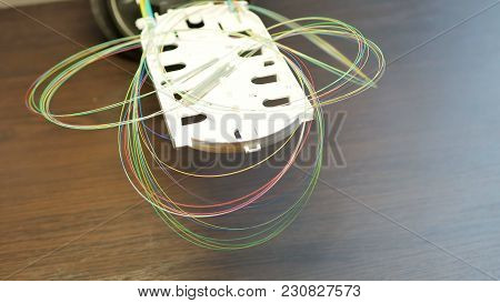 Many Optical Fiber Cable Keep In Box In Server Room