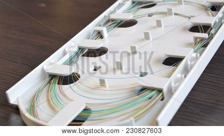 An Optical Fiber Tray On The Table