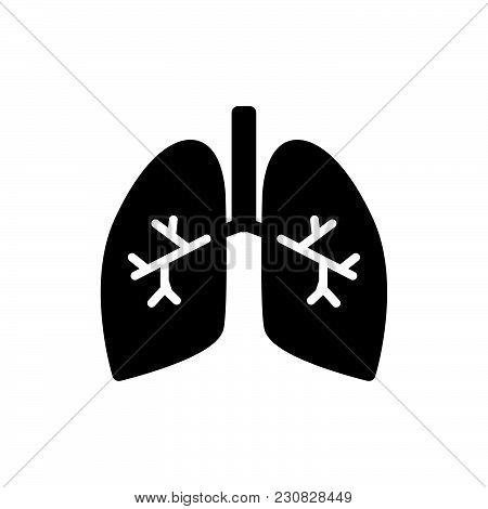 Lungs With Bronchi Icon Isolated On White Background. Lungs With Bronchi Icon Modern Symbol For Grap