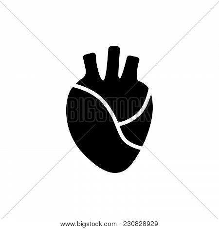 Heart Beating Icon Isolated On White Background. Heart Beating Icon Modern Symbol For Graphic And We