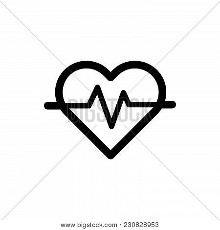 Heartbeat Icon Isolated On White Background. Heartbeat Icon Modern Symbol For Graphic And Web Design