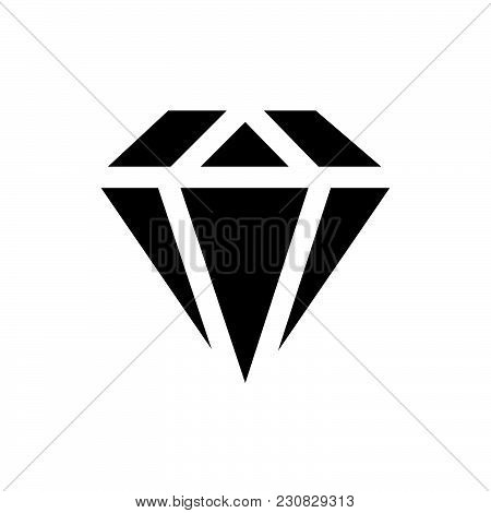 Diamond Icon Isolated On White Background. Diamond Icon Modern Symbol For Graphic And Web Design. Di