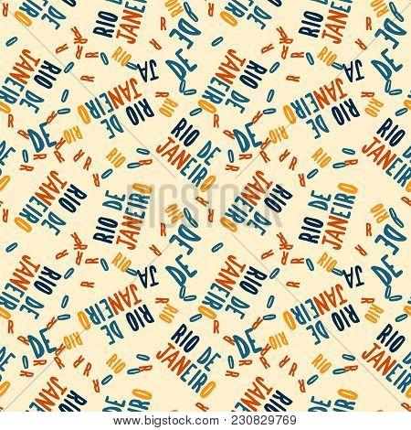 Rio De Janeiro Creative Pattern. Digital Design For Print, Fabric, Fashion Or Presentation.